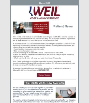 WFAI Patient Newsletter – March 2020