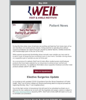 WFAI Patient Newsletter – May 2020