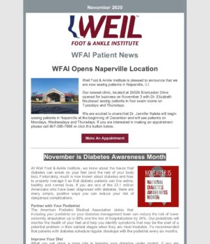 WFAI Patient Newsletter – Nov 1 2020