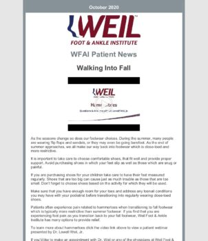 WFAI Patient Newsletter – Oct 1 2020