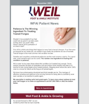 WFAI Patient Newsletter – Dec 1 2020